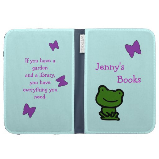 Frog and Butterfly Garden Kids Kindle Case