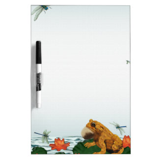 Frog and Dragonfly Dry-Erase Board