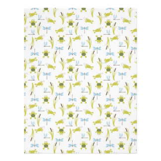 Frog and Dragonfly Scrapbook Paper