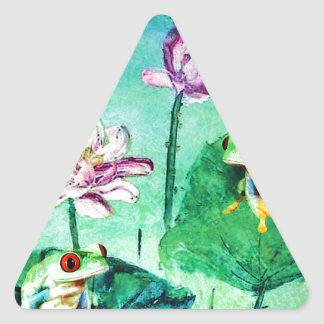 FROG AND DRAGONFLY TRIANGLE STICKER