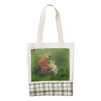 """""""Frog and Fairy"""" small tote bag"""