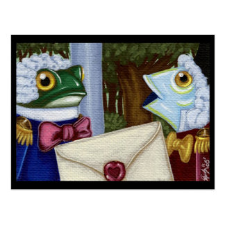 Frog And Fish Footmen Postcard