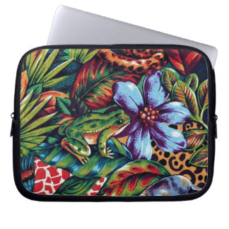 Frog and Flower Laptop Sleeve