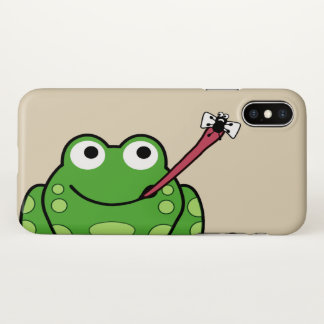Frog and Fly iPhone X Case