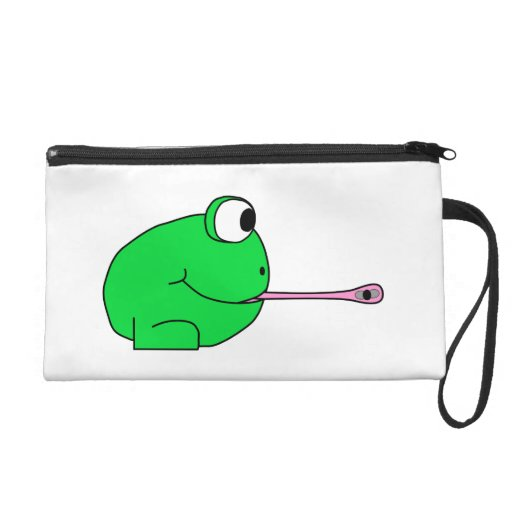 Frog and Fly. Wristlet Clutches