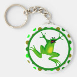 Frog and Green Polka Dots Keychains