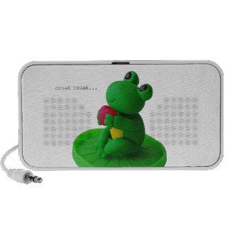 Frog and heart mp3 speaker