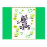frog and hearts post cards