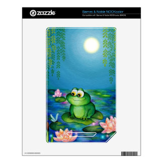 Frog and Lily Pond Decal For The NOOK Color