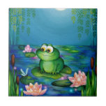 Frog and Lily Pond Tile
