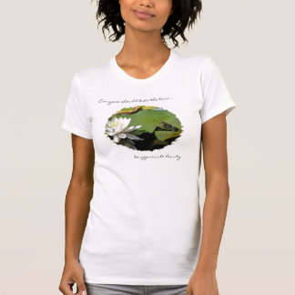 Frog And Lotus Flower Inspirational Quote T-Shirt