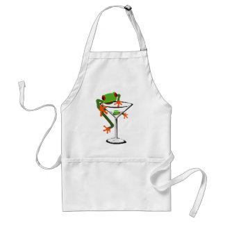 Frog and Martini Adult Apron