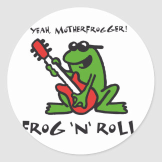 frog and roll classic round sticker