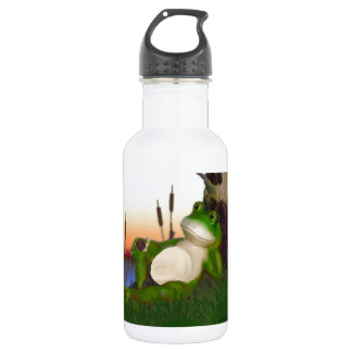 Frog and Snail Water Bottle