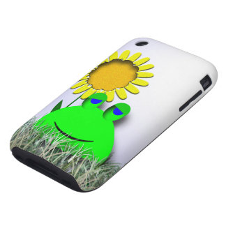 Frog and Sunflower iPhone 3 Tough Case