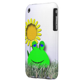 Frog and sunflower iPhone 3 covers