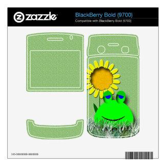 Frog and Sunflower BlackBerry Skin