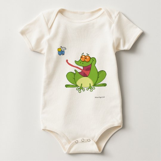 Frog and the Fly Baby Bodysuit