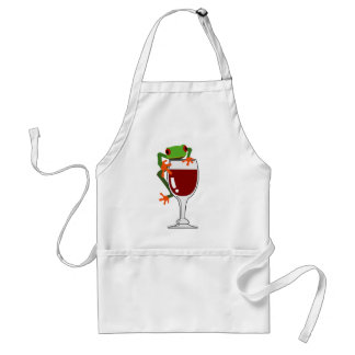 Frog and Wine Adult Apron
