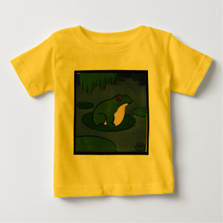 Frog - Antiquarian, Colorful Book Illustration Baby T-Shirt