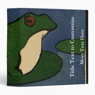 Frog - Antiquarian, Colorful Book Illustration Binder