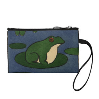 Frog - Antiquarian, Colorful Book Illustration Coin Wallet