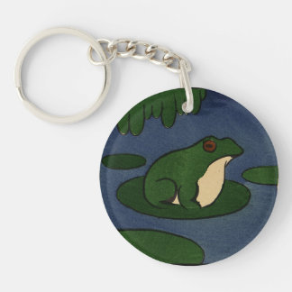 Frog - Antiquarian, Colorful Book Illustration Keychain