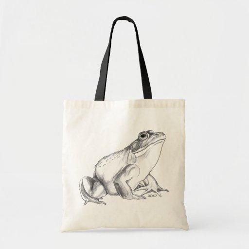 Frog Art Bags Bullfrog Art Tote Shopping Bag