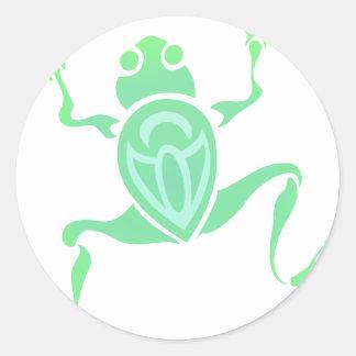 Frog Art Classic Round Sticker