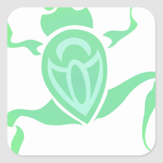 Frog Art Square Sticker