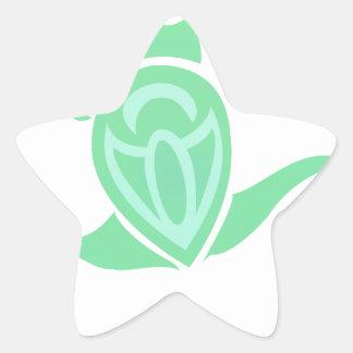 Frog Art Star Sticker