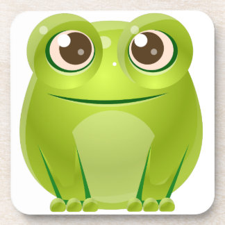 Frog Baby Animal In Girly Sweet Style Beverage Coaster