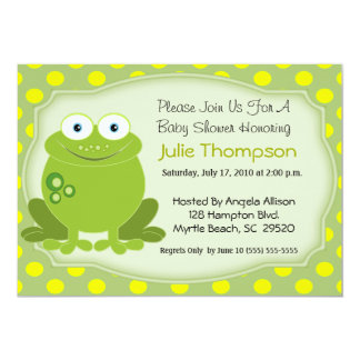 Frog Baby Shower Invitations Announcements Zazzle