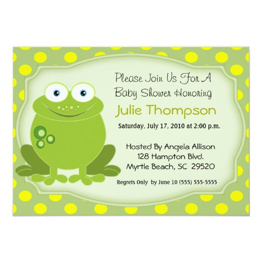 Frog Baby Shower Invitation