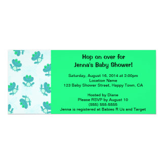 Frog Baby Shower Invitation, Personalize It!