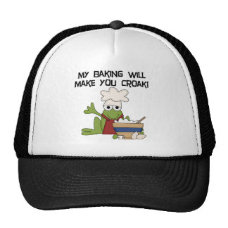 Frog Baker Tshirts and Gifts Trucker Hat