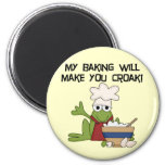 Frog Baker Tshirts and Gifts Refrigerator Magnet