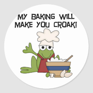 Frog Baker Tshirts and Gifts Classic Round Sticker