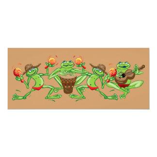 Frog band 10 cm x 24 cm invitation card