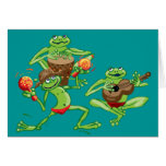 Frog band birthday card or invitation