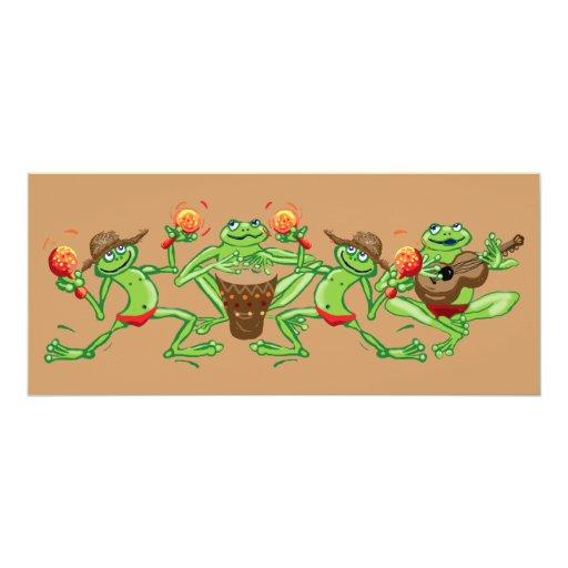 Frog band card