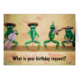 FROG BAND MEMBERS SAY HAPPY BIRTHDAY GREETING CARD