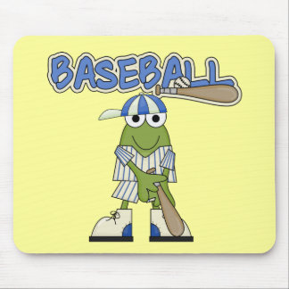 Frog Baseball Batter Up Tshirts and Gifts Mouse Pad