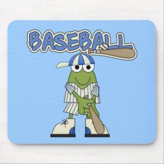 Frog Baseball Batter Up Tshirts and Gifts mousepad