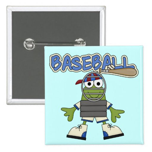 Frog Baseball - Catcher Tshirts and  Gifts Pinback Buttons