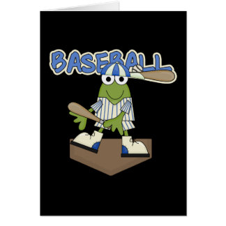 Frog Baseball Home Plate Tshirts and Gifts Card