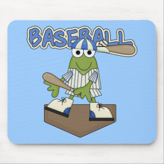 Frog Baseball Home Plate Tshirts and Gifts Mouse Pads