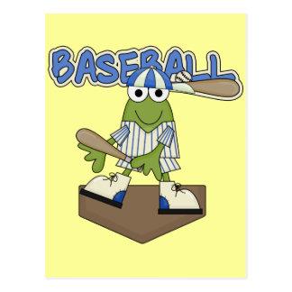 Frog Baseball Home Plate Tshirts and Gifts Postcard