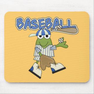 Frog Baseball Pitcher T-shirts and Gifts Mousepad