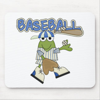 Frog Baseball Pitcher T-shirts and Gifts Mouse Pads